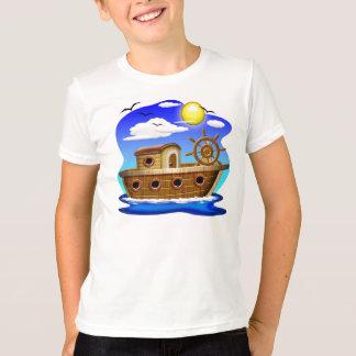 Desenhos animados do barco de pesca tshirt