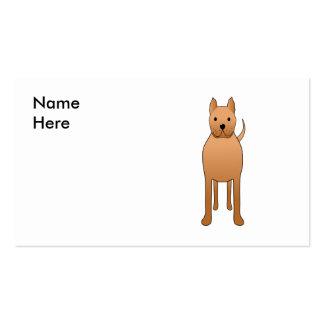 Desenhos animados do cão cartão de visita
