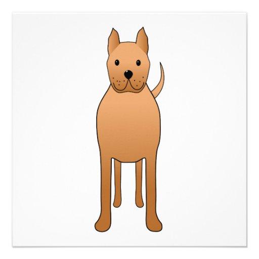 Desenhos animados do cão convites