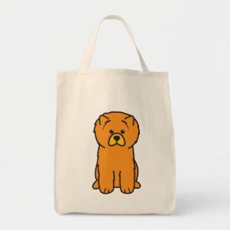 Desenhos animados do cão da comida de comida sacola tote de mercado