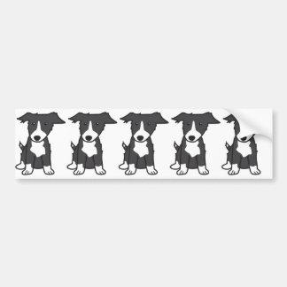 Desenhos animados do cão de border collie adesivo para carro