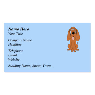 Desenhos animados do cão de Brown. Hound. Cartões De Visitas