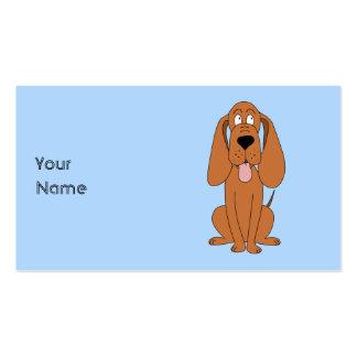 Desenhos animados do cão de Brown. Hound. Cartoes De Visitas