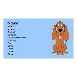 Desenhos animados do cão de Brown. Hound. Cartoes De Visita