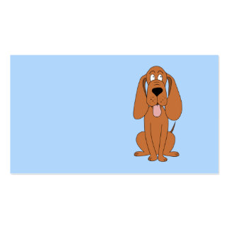 Desenhos animados do cão de Brown. Hound. Modelo Cartão De Visita