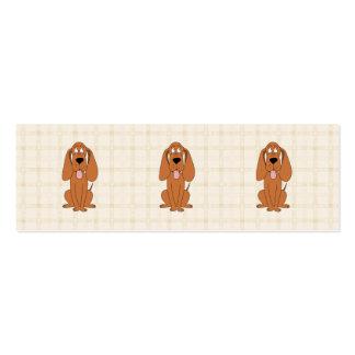 Desenhos animados do cão de Brown. Hound. Cartões De Visita