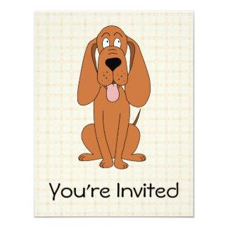 Desenhos animados do cão de Brown. Hound. Convite 10.79 X 13.97cm