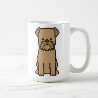 Desenhos animados do cão de Bruxelas Griffon Caneca De Café