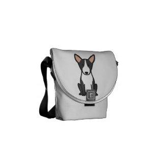 Desenhos animados do cão de bull terrier bolsa mensageiro