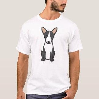 Desenhos animados do cão de bull terrier camisetas