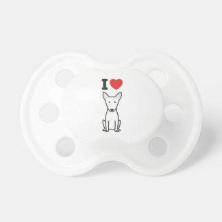 Desenhos animados do cão de bull terrier chupeta