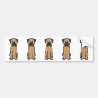 Desenhos animados do cão de Bullmastiff Adesivo Para Carro