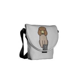 Desenhos animados do cão de caniche bolsas mensageiro