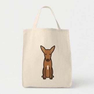 Desenhos animados do cão de cão do faraó sacola tote de mercado