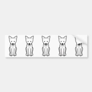 Desenhos animados do cão de Carolina Adesivo Para Carro