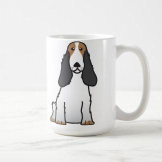 Desenhos animados do cão de cocker spaniel do caneca de café