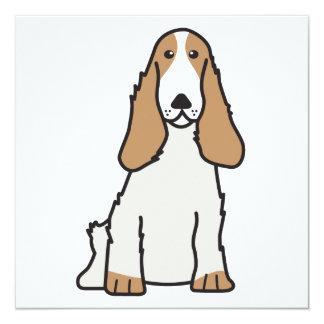 Desenhos animados do cão de cocker spaniel do convite quadrado 13.35 x 13.35cm