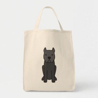 Desenhos animados do cão de Corso do bastão Bolsas