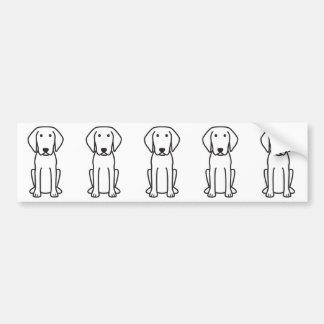 Desenhos animados do cão de Cursinu Adesivo Para Carro