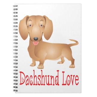 Desenhos animados do cão de filhote de cachorro de cadernos espiral