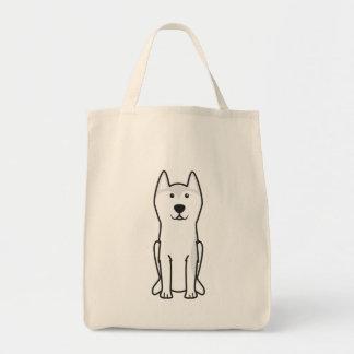 Desenhos animados do cão de Greenland Bolsa Para Compras