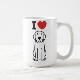 Desenhos animados do cão de labrador retriever caneca