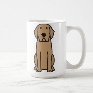 Desenhos animados do cão de labrador retriever caneca de café