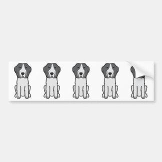Desenhos animados do cão de Landseer Adesivo Para Carro