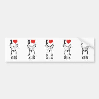 Desenhos animados do cão de Papillon Adesivo Para Carro