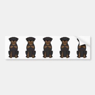 Desenhos animados do cão de Rottweiler Adesivo Para Carro