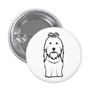 Desenhos animados do cão de Shih Tzu Pins