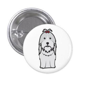 Desenhos animados do cão de Shih Tzu Boton