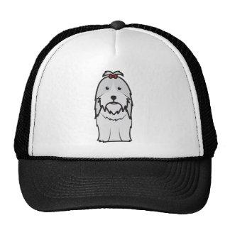 Desenhos animados do cão de Shih Tzu Bonés