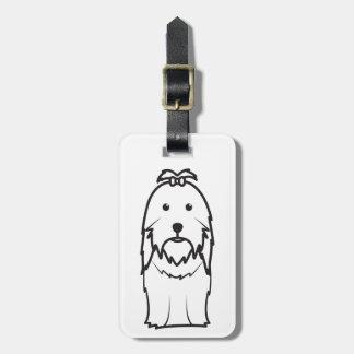 Desenhos animados do cão de Shih Tzu Etiqueta De Mala De Viagem
