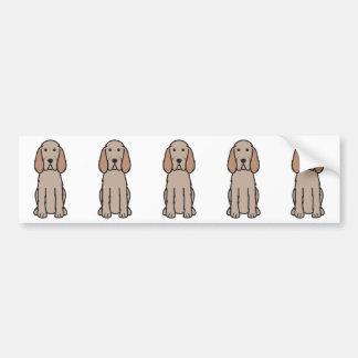 Desenhos animados do cão de Spinone Italiano Adesivo Para Carro