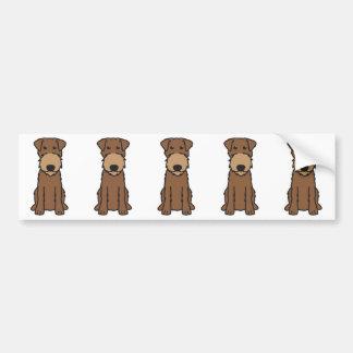 Desenhos animados do cão de Terrier irlandês Adesivo Para Carro