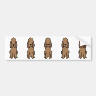 Desenhos animados do cão do Bloodhound Adesivo Para Carro