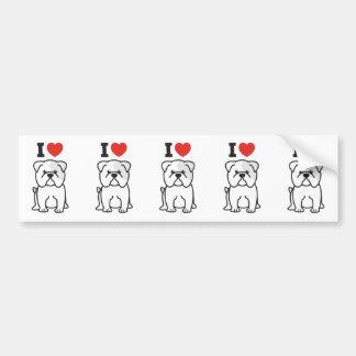Desenhos animados do cão do buldogue adesivo para carro