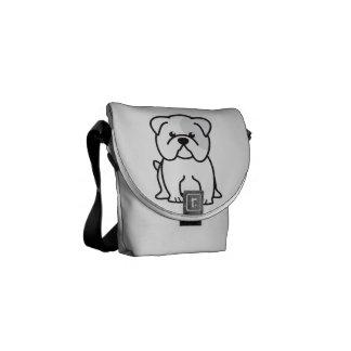 Desenhos animados do cão do buldogue bolsas mensageiro