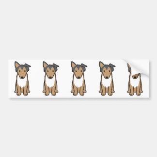 Desenhos animados do cão do Collie Adesivo Para Carro