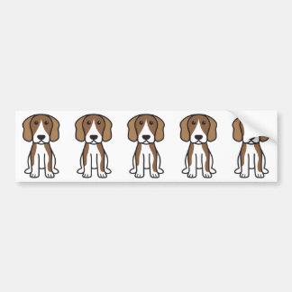 Desenhos animados do cão do lebreiro adesivo para carro