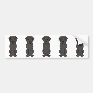Desenhos animados do cão do Mastiff Adesivo Para Carro