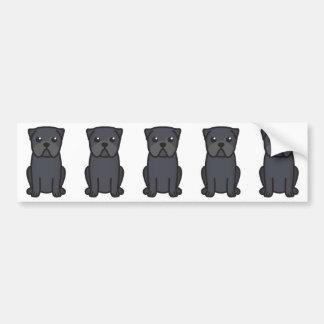 Desenhos animados do cão do Pug Adesivo Para Carro