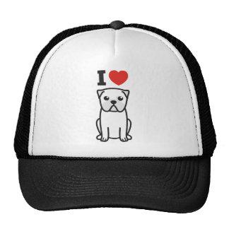 Desenhos animados do cão do Pug Boné