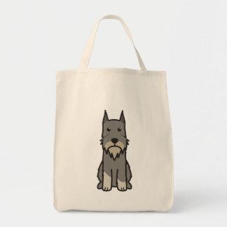 Desenhos animados do cão do Schnauzer padrão Sacola Tote De Mercado
