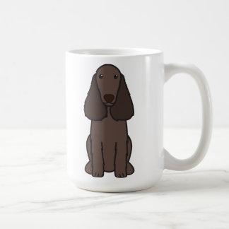 Desenhos animados do cão do Spaniel de campo Caneca De Café