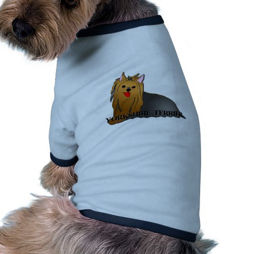 Desenhos animados do cão do yorkshire terrier roupa para pets