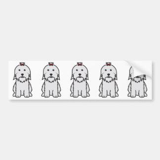 Desenhos animados do cão maltês adesivo para carro