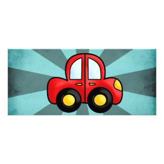 Desenhos animados do carro 10.16 x 22.86cm panfleto