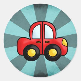Desenhos animados do carro adesivo